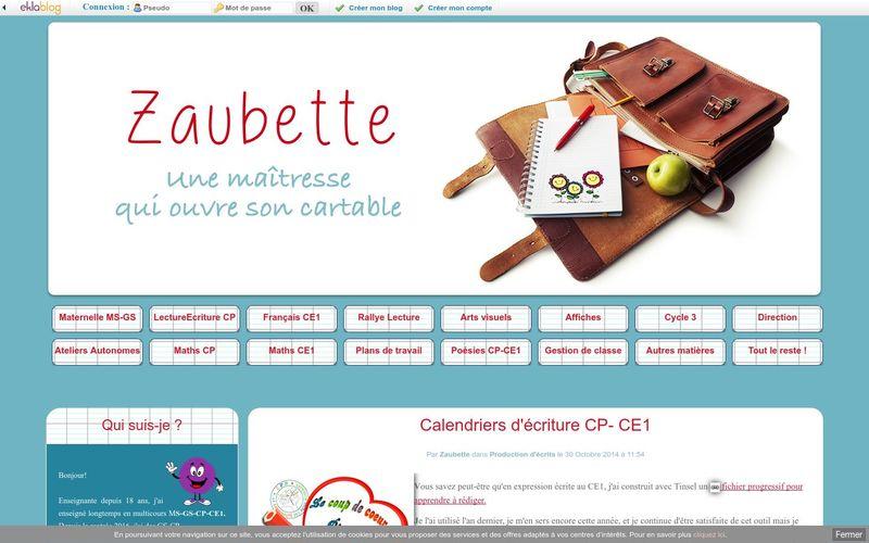 Calendriers d'écriture CP- CE1 - Zaubette